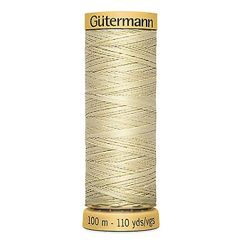 Gutermann 100% naturlig bomuldstråd 100m hånd- og maskinfarvekode - 828