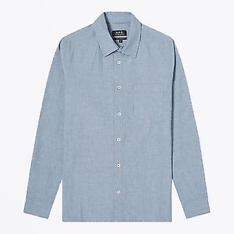 A.P.C.  - ويلكو - قميص مخطط - أزرق