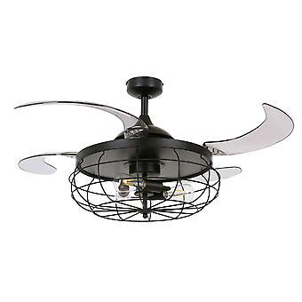 Retractable ceiling fan Fanaway Industri Black