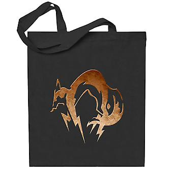Foxhound Symbol Skitne Messing Metall Gear Solid Totebag
