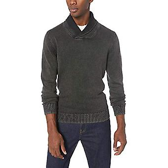 Goodthreads Men's Soft Cotton Shawl Pullover Sweater, Washed Black, XXX-Large