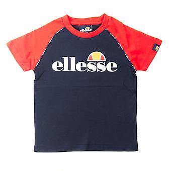 Ellesse Heritage Rivalo Infant Junior Kids Camiseta Camiseta Azul Marino