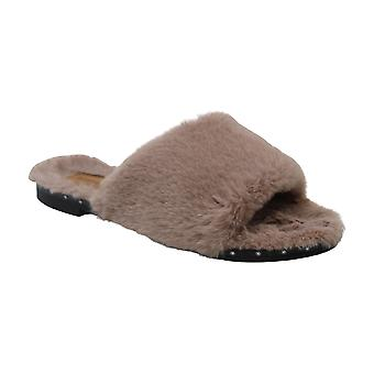 Kenneth Cole New York Women's Peggy Fuzzy Slipper Sandal Slide, Rose, 7 M US