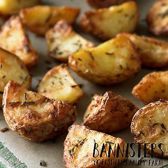 Bannisters Farm Frozen Garlic & Rosemary Roasting Potatoes