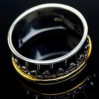 Meditaatio spinner rengas koko 8,75 (925 sterlinghopea) - käsintehty boho vintage korut RING22639