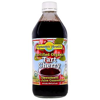 Dynamic Health  Laboratories, Certified Organic Tart Cherry, 100% Juice Concentr