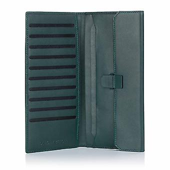 Green Label Luxury Leather Slim Travel Wallet