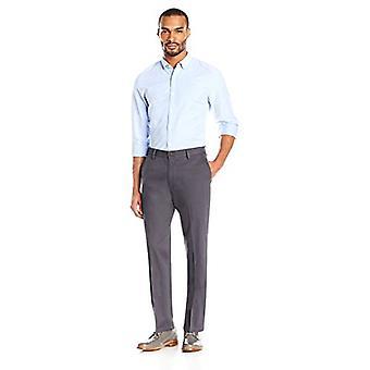 Marke - Goodthreads Men's Straight-Fit Falten-Free Comfort Stretch Kleid Chino Hose, grau, 29W X 32L