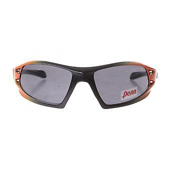 sportzonnebril unisex oranje/zwart met grijze lens