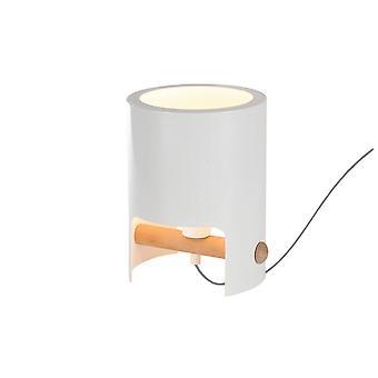 Bordslampa Hög 1x40W, Vit Metall, Trä