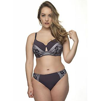 After Eden D-Cup & Up 20.35.7561-461 Women's Lauren T.T. Dark Grey Lace Panty Thong