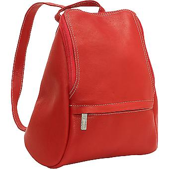N-S Zip Flapover Backpack - Ld-030-Red