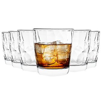 Bormioli Rocco Diamond Tumbler Glasses Set - 300ml - Pack of 6