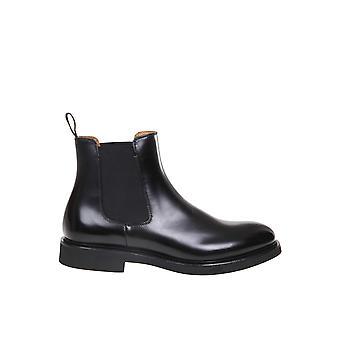 Doucal's Du1343genouf007nn00 Men's Black Leather Enkellaarsjes