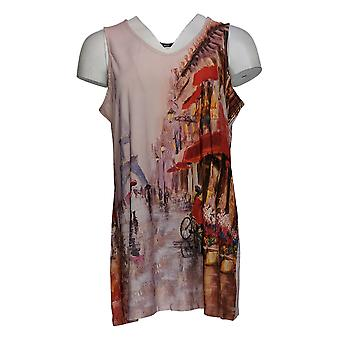 Women with Control Women's Top Sleeveless Printed Tunic Pink A353131