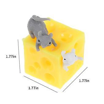 Maus und Käse Spielzeug, Faultier verstecken und suchen Stress Relief Spielzeug - 2 squishable