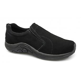 PDQ Ryno Unisex Twin Gusset Jungle Casual Suede Trainers Black