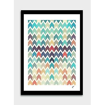 Watercolor Chevron Pattern Frame