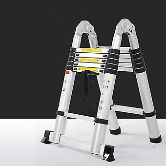 Portable Telescopic Ladder With Board Multipurpose Thickening Aluminum Alloy