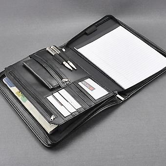 A4 Padfolio, Portfolio Briefcase, Writing Pad, Buiness File Folder Bag With