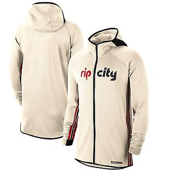 Portland Trail Blazers Cream 201920 Earned Edition Showtime Full Hoodie Top WY130