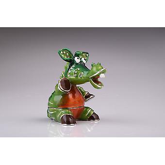 Green Crocodile-trinket Box