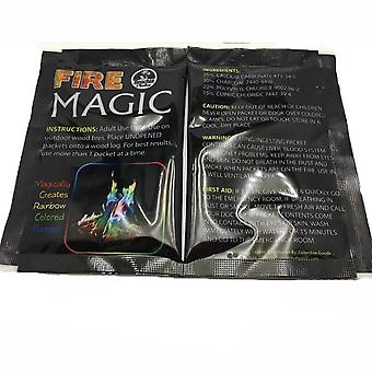 Mystical Magic Tricks Brightly Colored Flames Powder Fireplace Toy