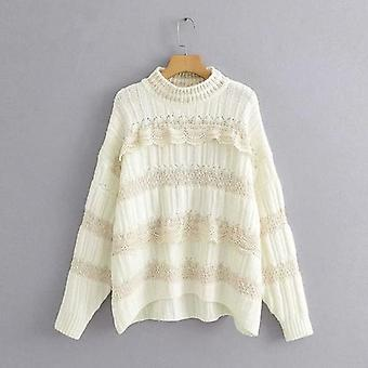 Femei Lace Pullovers Pulover