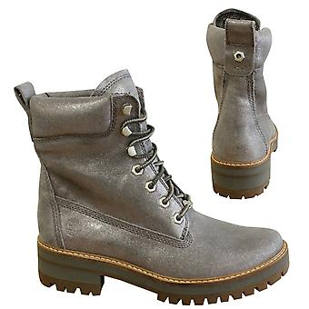 Timberland 6 Inch Courmayeur Valley Hiking Grey Leather Womens Boots A1MFR B50E