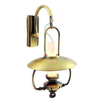 Dolls House Mammoth Oil Lamp Wall Sconce 12v Light Nostalgic Electric Lighting
