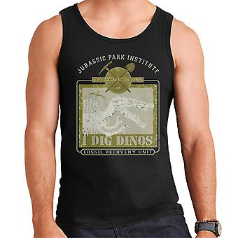 Jurassic Park Institute I Dig Dinos Fossil Recovery Unit Men's Vest
