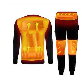 Motorcycle Winter Heating Underwear Set Powered Ski Wear Usb Electric Heated