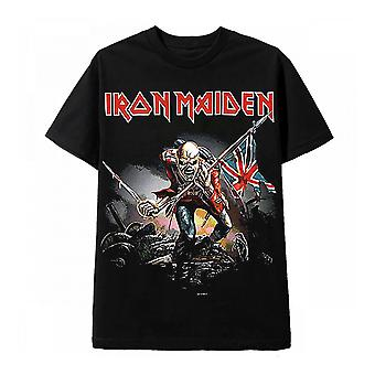 Vintage Rock Black T Shirt Iron Maiden The Trooper