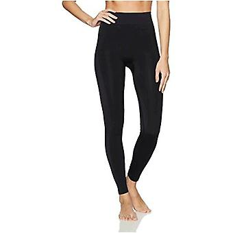 Merk - Arabella Women&s Shine en Matte Seamless Shapewear Legging, Zwart, Medium