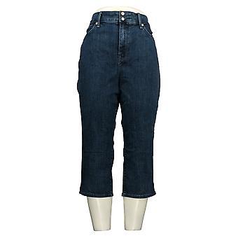 NYDJ Women's Petite Jeans Cool Embrace Crop Side Slits - Lana Blue A377692
