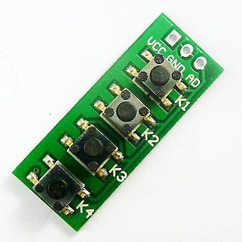 広告キーボードは4つのキーモジュールのアナログボタンをシミュレート