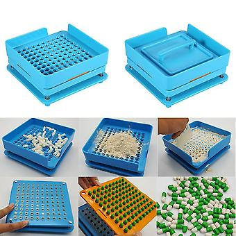 100 Holes Capsule Filler Machine  Practical Pro Capsule Filler Machine Flate