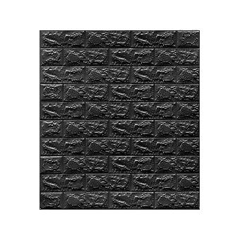 Bright Black Self-adhesive 3d Decorative Wall Panel