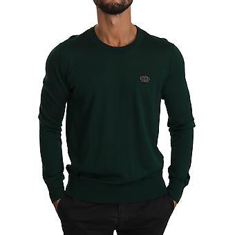 Pull de pull de couronne vert cachemire