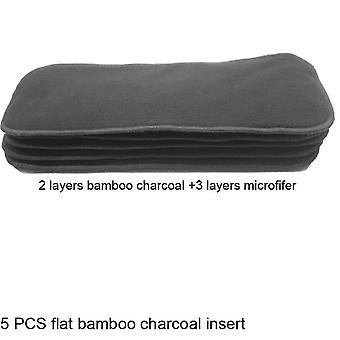 5 Pcs Reusable Bamboo Charcoal Insert Baby Cloth Diaper Mat