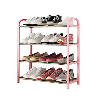 4 tiers skoholder, skoopbevaringsarrangør ikke-vævet pladsbesparende skohylde
