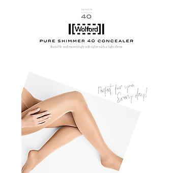 Wolford Pure Shimmer 40 Concealer Shiny Tights