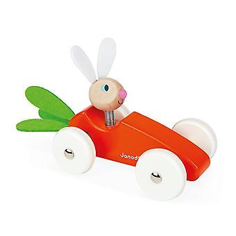 Janod lapin voiture carotte