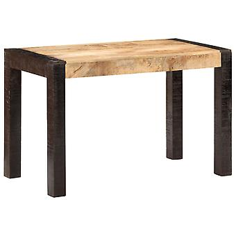 Dining Table 120x60x76 Cm Solid Rough Mango Wood