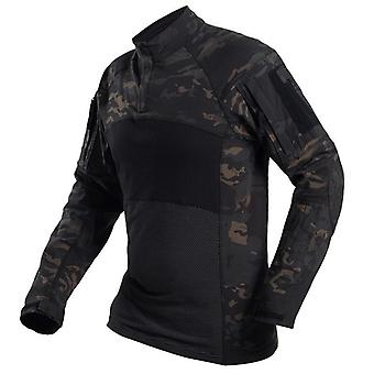 Camouflage Tactical Shirt, Military, Army Combat Shirts, Camo Men, Long Sleeve,