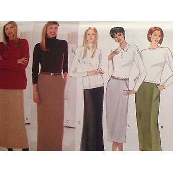 Butterick Syning Mønster 5668 Ladies Misses Nederdele Størrelse 14-18 Uslebne
