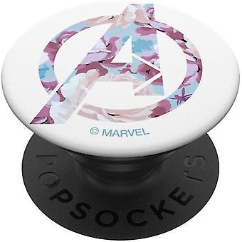 HanFei Avengers Floral Logo mit Super Heroes PopSockets PopGrip: Ausziehbarer Sockel und Griff fr