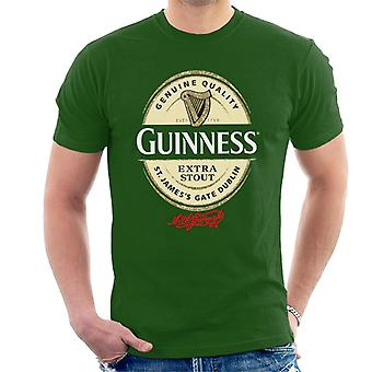 Guinness Extra Stout Label Logo Men's T-paita