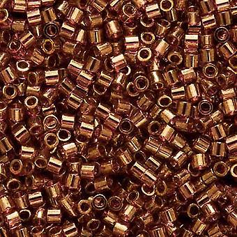 Miyuki Delica Beed Beads, Tamaño 15/0, 4 Gramos, Amatista Transparente Oro Lustre DBS108