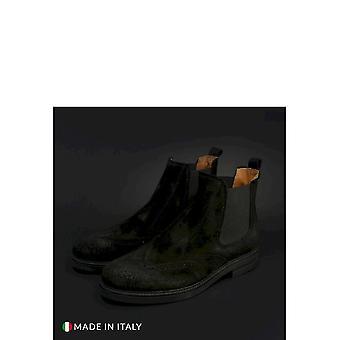 Duca di Morrone - Shoes - Ankle Boots - 101-CAMOSCIO-NERO - Men - Schwartz - EU 45